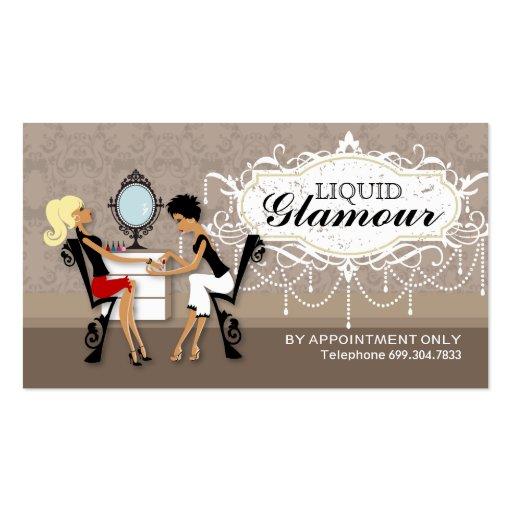 Cartes de fidélité de salon de clou modèle de carte de visite