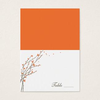 Cartes de floraison d'endroit pliées par branches carte de visite grand format