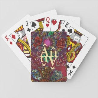 cartes de jeu Bijou-modifiées la tonalité Jeu De Cartes