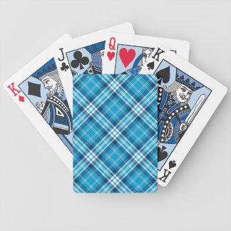 Cartes de jeu bleues de plaid jeu de cartes