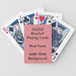 Cartes de jeu bleues faites sur commande de visage jeu de cartes