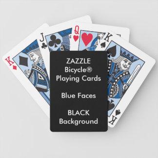 Cartes de jeu bleues faites sur commande NOIRES de Jeu De Cartes