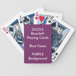 Cartes de jeu bleues faites sur commande POURPRES Jeu De Cartes