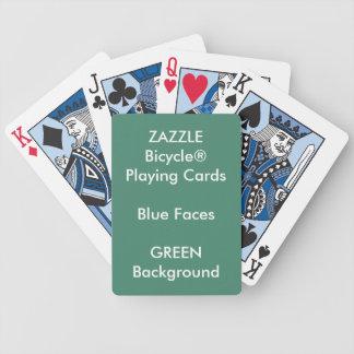 Cartes de jeu bleues faites sur commande VERTES de Jeu De Poker