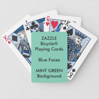 Cartes de jeu bleues faites sur commande VERTES EN Jeu De Cartes