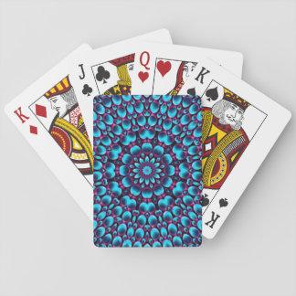 Cartes de jeu colorées de joueur de pipeau pourpre jeux de cartes