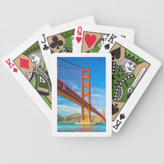 Cartes de jeu de bicyclette de golden gate bridge jeux de cartes