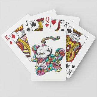 Cartes de jeu de crâne de coeur de démon jeu de cartes