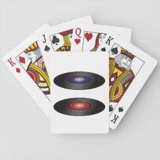 Cartes de jeu de disques vinyle cartes à jouer