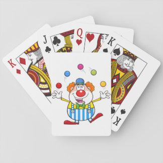 Cartes de jeu de jonglerie de clown drôle jeu de cartes