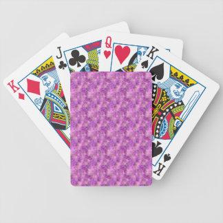 Cartes de jeu de marbre roses de regard jeu de cartes