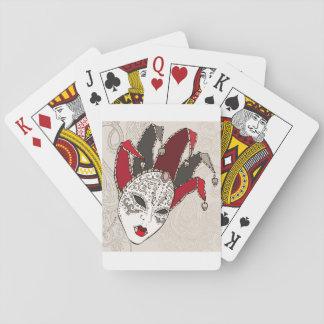 Cartes de jeu de masque de carnaval de mardi gras jeu de cartes