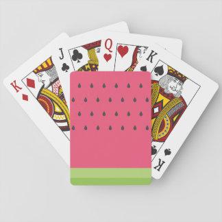Cartes de jeu de pastèque jeu de cartes