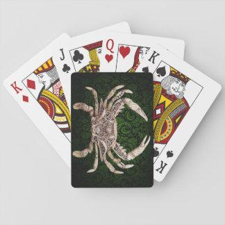 Cartes de jeu de Steampunk de crabe de rouages Cartes À Jouer
