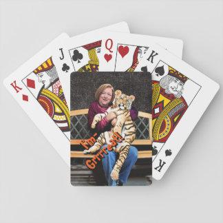 Cartes de jeu du tigre du rose, visages standard cartes à jouer