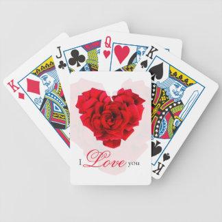 Cartes de jeu en forme de coeur de bicyclette jeu de cartes