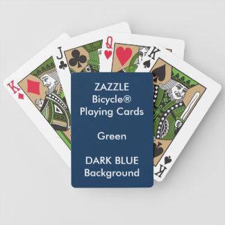 Cartes de jeu faites sur commande BLEUES de vert Jeu De Cartes