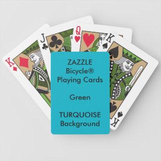 Cartes de jeu faites sur commande de vert de jeu de cartes