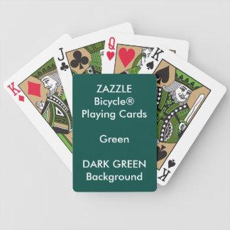Cartes de jeu faites sur commande VERTES de vert Jeu De Cartes