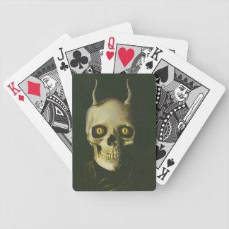 Cartes de jeu gothiques de crâne de diable cartes à jouer