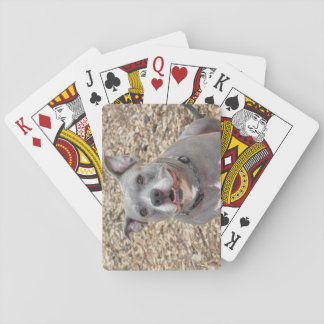 Cartes de jeu heureuses de Pitbull Sarge Jeu De Cartes