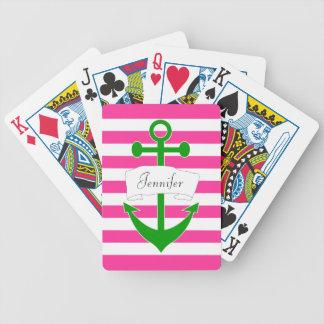Cartes de jeu nautiques personnalisées chics jeu de cartes