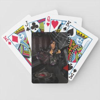 Cartes de jeu noires gothiques de coeur jeux de cartes