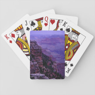 Cartes de jeu pourpres de canyon grand jeu de cartes