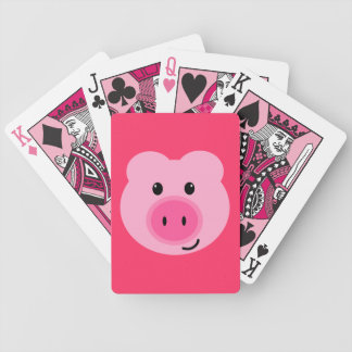 Cartes de jeu roses mignonnes de porc jeu de poker