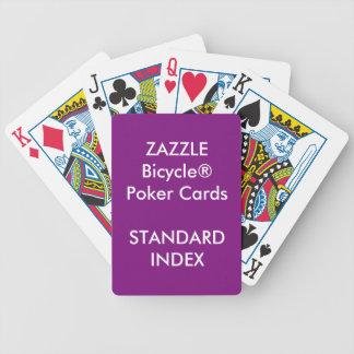 Cartes de jeu standard faites sur commande de jeu de poker