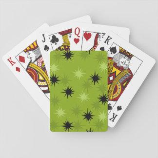 Cartes de jeu vertes atomiques de Starbursts Jeux De Cartes