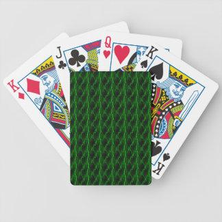 Cartes de jeu vertes de regard de foudre cartes à jouer