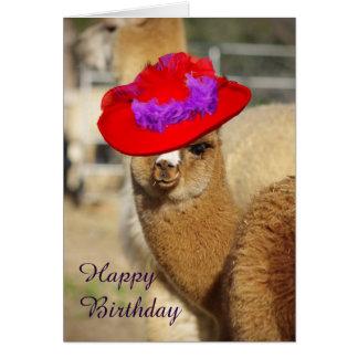 Cartes de joyeux anniversaire d'alpaga