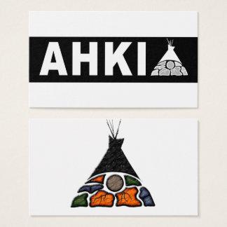 Cartes de logo d'Ahki
