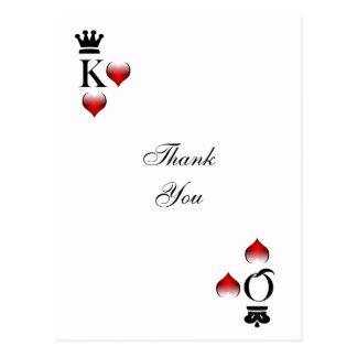 Cartes de mariage de Vegas merci Cartes Postales