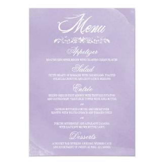 Cartes de menu de mariage d'aquarelle carton d'invitation  12,7 cm x 17,78 cm