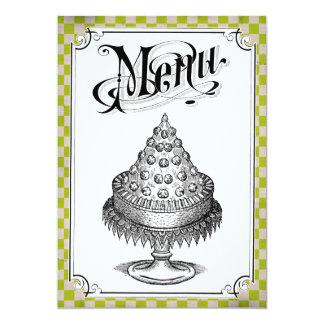 Cartes de menu de mariage de damier de Steampunk Carton D'invitation 12,7 Cm X 17,78 Cm