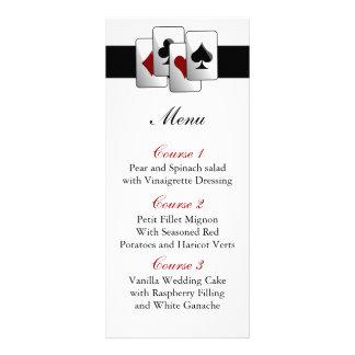 Cartes de menu de mariage de Las Vegas Carte Double En Couleur