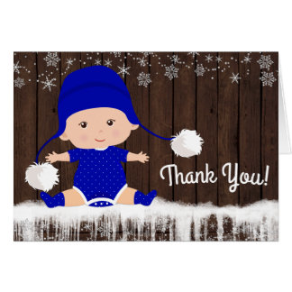 Cartes de Merci de baby shower de flocon de neige