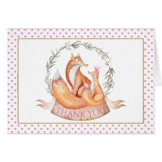 Cartes de Merci de baby shower de Fox