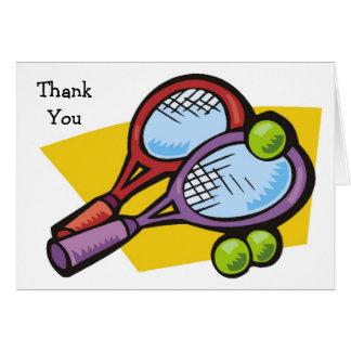 Cartes de Merci de boules de raquettes de tennis