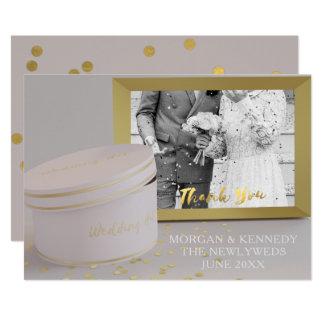 Cartes de Merci de mariage de feuille d'or de Faux Carton D'invitation 12,7 Cm X 17,78 Cm