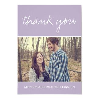 Cartes de Merci de mariage de photo de lavande Carton D'invitation 12,7 Cm X 17,78 Cm