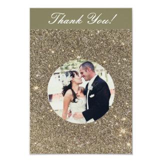 Cartes de Merci de photo de mariage d'étincelle Carton D'invitation 8,89 Cm X 12,70 Cm