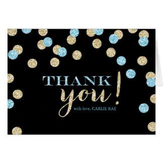 Cartes de Merci de scintillement de turquoise et