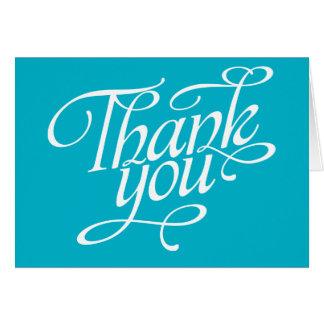 Cartes de Merci de turquoise