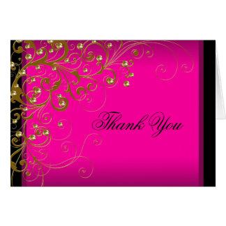Cartes de Merci d'or de roses indien
