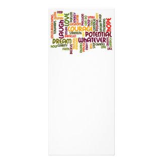 Cartes de motivation de support des mots #1 cartons d'informations  10 cm x 22,9 cm