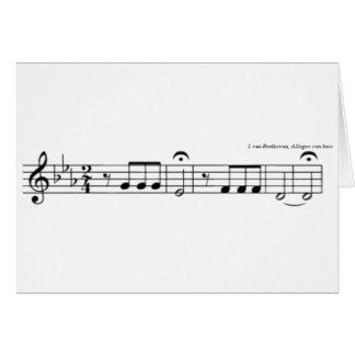 Cartes de no. 5 de symphonie de Beethoven