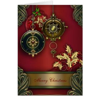 Cartes de Noël chrétiennes rouges
